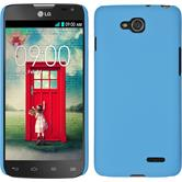 Hardcase for LG L90 Dual rubberized light blue