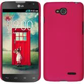 Hardcase for LG L90 Dual rubberized hot pink