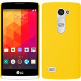 Hardcase for LG Leon rubberized yellow