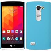 Hardcase for LG Leon rubberized light blue