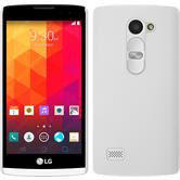 Hardcase for LG Leon rubberized white