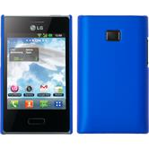 Hardcase for LG Optimus L3 rubberized blue
