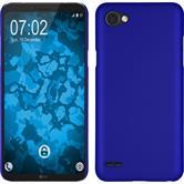 Hardcase Q6 gummiert blau + 2 Schutzfolien