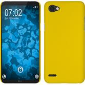 Hardcase Q6 gummiert gelb + 2 Schutzfolien