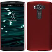 Hardcase für LG V10 gummiert rot