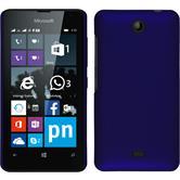 Hardcase Lumia 430 Dual gummiert blau + 2 Schutzfolien