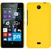 Hardcase Lumia 430 Dual gummiert gelb + 2 Schutzfolien