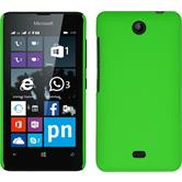 Hardcase Lumia 430 Dual gummiert grün + 2 Schutzfolien