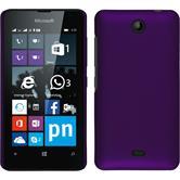 Hardcase Lumia 430 Dual gummiert lila + 2 Schutzfolien