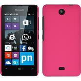 Hardcase Lumia 430 Dual gummiert pink + 2 Schutzfolien