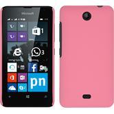 Hardcase Lumia 430 Dual gummiert rosa + 2 Schutzfolien