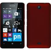 Hardcase Lumia 430 Dual gummiert rot + 2 Schutzfolien