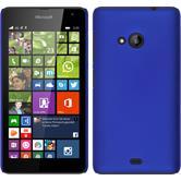 Hardcase Lumia 535 gummiert blau + 2 Schutzfolien