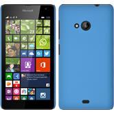 Hardcase Lumia 535 gummiert hellblau + 2 Schutzfolien