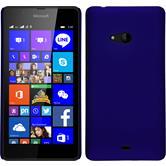 Hardcase Lumia 540 Dual gummiert blau + 2 Schutzfolien