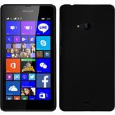 Hardcase Lumia 540 Dual gummiert schwarz