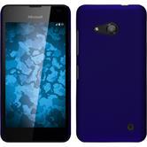 Hardcase für Microsoft Lumia 550 gummiert blau