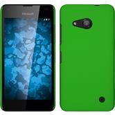 Hardcase Lumia 550 gummiert grün + 2 Schutzfolien