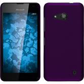 Hardcase Lumia 550 gummiert lila + 2 Schutzfolien