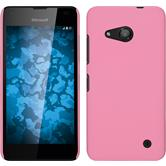 Hardcase für Microsoft Lumia 550 gummiert rosa