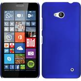 Hardcase for Microsoft Lumia 640 rubberized blue