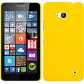 Hardcase für Microsoft Lumia 640 gummiert gelb