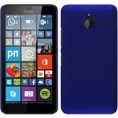 Hardcase Lumia 640 XL gummiert blau + 2 Schutzfolien