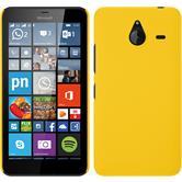 Hardcase Lumia 640 XL gummiert gelb + 2 Schutzfolien