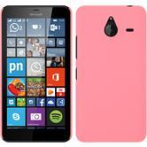 Hardcase Lumia 640 XL gummiert rosa + 2 Schutzfolien