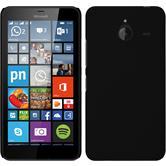 Hardcase Lumia 640 XL gummiert schwarz + 2 Schutzfolien