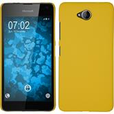 Hardcase Lumia 650 gummiert gelb Case