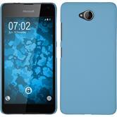 Hardcase Lumia 650 gummiert hellblau Case
