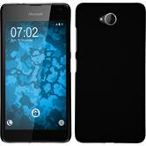 Hardcase Lumia 650 gummiert schwarz Case