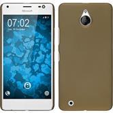 Hardcase Lumia 850 gummiert gold
