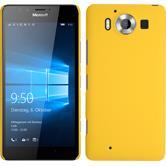 Hardcase für Microsoft Lumia 950 gummiert gelb