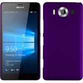 Hardcase Lumia 950 gummiert lila + 2 Schutzfolien