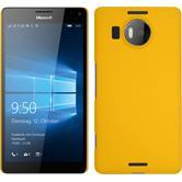 Hardcase für Microsoft Lumia 950 XL gummiert gelb