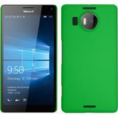 Hardcase Lumia 950 XL gummiert grün + 2 Schutzfolien