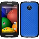 Hardcase for Motorola Moto E carbon optics blue