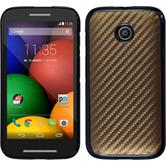 Hardcase for Motorola Moto E carbon optics bronze