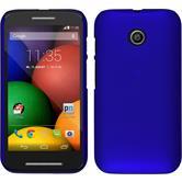 Hardcase for Motorola Moto E rubberized blue