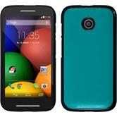 Hardcase for Motorola Moto E leather optics blue