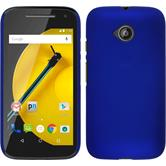 Hardcase for Motorola Moto E 2015 2. Generation rubberized blue