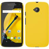Hardcase for Motorola Moto E 2015 2. Generation rubberized yellow