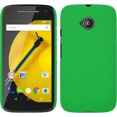 Hardcase for Motorola Moto E 2015 2. Generation rubberized green