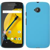 Hardcase for Motorola Moto E 2015 2. Generation rubberized light blue