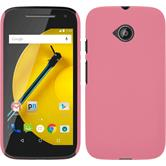 Hardcase for Motorola Moto E 2015 2. Generation rubberized pink