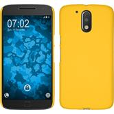Hardcase Moto G4 gummiert gelb
