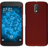 Hardcase Moto G4 gummiert rot + 2 Schutzfolien