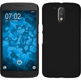 Hardcase für Motorola Moto G4 gummiert schwarz